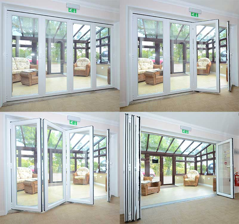 Mid kent windows upvc bi fold doors manufacturer for Patio outside bifold doors