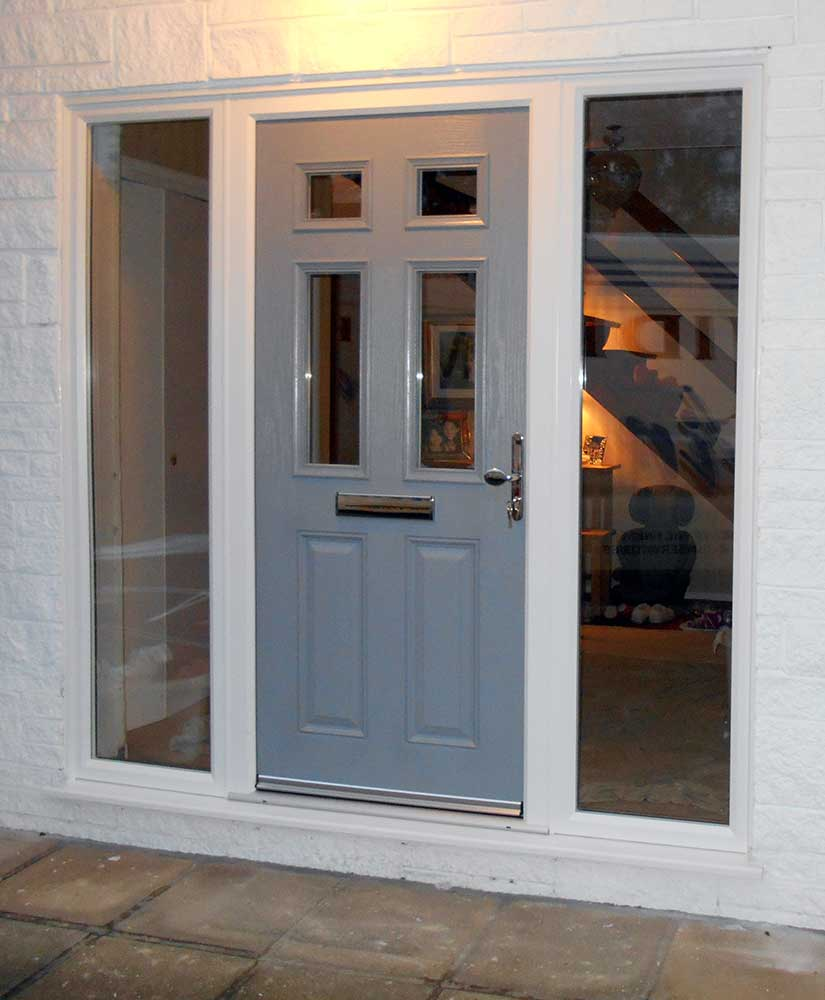 Front and back doors mid kent windows Gray front door meaning